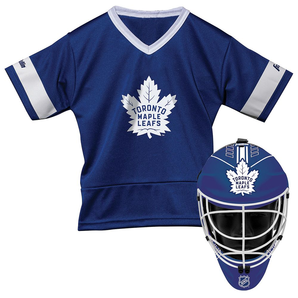 info for 57d77 837b1 Youth Franklin Toronto Maple Leafs Goalie Face Mask & Jersey Set