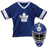 Youth Franklin Sports Toronto Maple Leafs Goalie Face Mask & Jersey Set