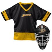 Youth Franklin Anaheim Ducks Goalie Face Mask & Jersey Set