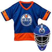 Youth Franklin Edmonton Oilers Goalie Face Mask & Jersey Set