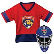 Youth Franklin Florida Panthers Goalie Face Mask & Jersey Set