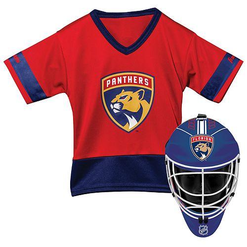 Youth Franklin Florida Panthers Goalie Face Mask & Jersey Set