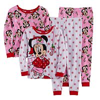 Disney's Minnie Mouse Toddler Girl 4-pc. Christmas Pajama Set