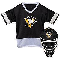 Youth Franklin Pittsburgh Penguins Goalie Face Mask & Jersey Set