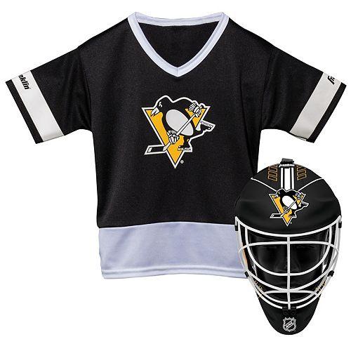 huge discount 5fb23 a8e9d Youth Franklin Pittsburgh Penguins Goalie Face Mask & Jersey Set