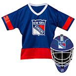 Youth Franklin New York Rangers Goalie Face Mask & Jersey Set