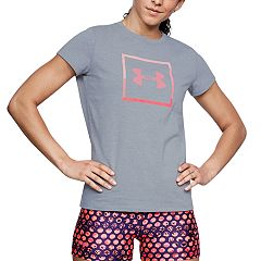 Women's Under Armour Sportstyle Box Logo Crew Graphic Tee
