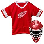 Youth Franklin Detroit Red Wings Goalie Face Mask & Jersey Set