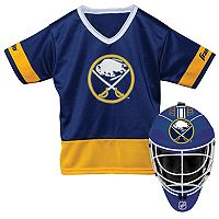 Youth Franklin Buffalo Sabres Goalie Face Mask & Jersey Set