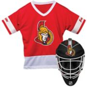 Youth Franklin Ottawa Senators Goalie Face Mask & Jersey Set