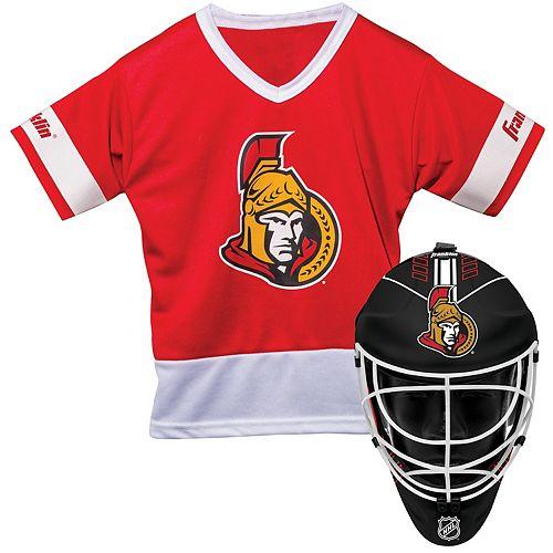 Youth Franklin Ottawa Senators Goalie Face Mask & Jersey Set
