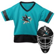 Youth Franklin San Jose Sharks Goalie Face Mask & Jersey Set