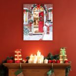 Artissimo Designs Warm Holiday Welcome Christmas Canvas Wall Art