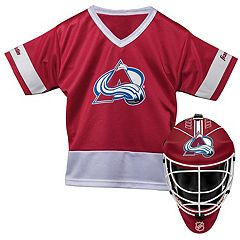 Youth Franklin Colorado Avalanche Goalie Face Mask & Jersey Set