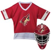 Youth Franklin Arizona Coyotes Goalie Face Mask & Jersey Set