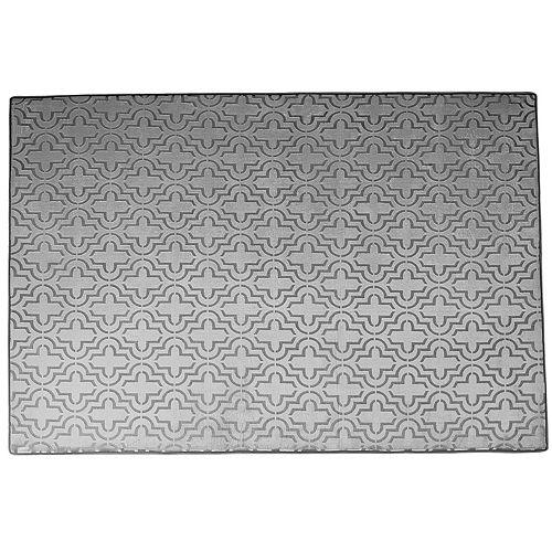 Chesapeake Memory Foam Moroccan Trellis Rug - 4' x 5'6''