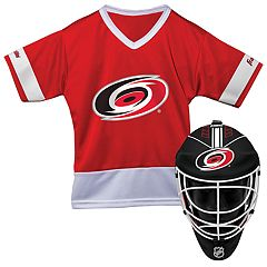Youth Franklin Carolina Hurricanes Goalie Face Mask & Jersey Set