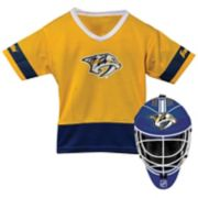 Youth Franklin Nashville Predators Goalie Face Mask & Jersey Set