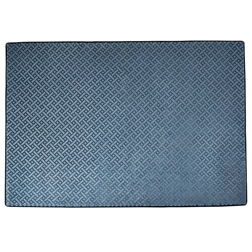 Chesapeake Memory Foam Geo Block Rug - 4' x 5'6''