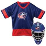 Youth Franklin Columbus Blue Jackets Goalie Face Mask & Jersey Set