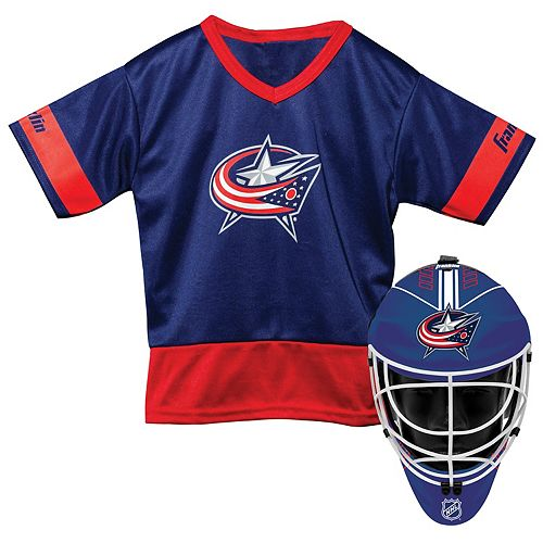 online store 99869 40c5d Youth Franklin Columbus Blue Jackets Goalie Face Mask & Jersey Set