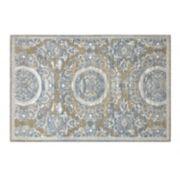 Chesapeake Chenille Sunburst Framed Floral Rug
