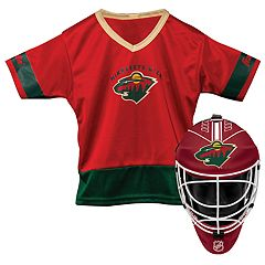 Youth Franklin Minnesota Wild Goalie Face Mask & Jersey Set