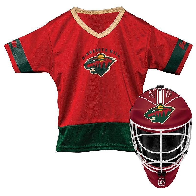 Youth Franklin Minnesota Wild Goalie & Jersey Set. Multicolor