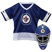 Youth Franklin Winnipeg Jets Goalie Face Mask & Jersey Set