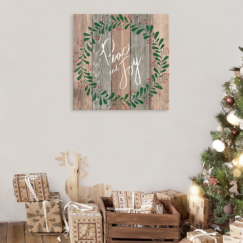 "Artissimo Designs ""Peace and Joy"" Wood Wall Decor"