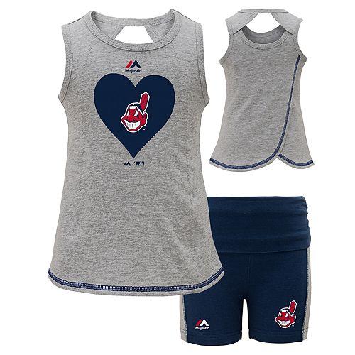 Girls 4-6x Majestic Cleveland Indians Base Runner Tank & Shorts Set