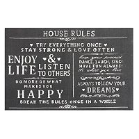 Chesapeake Paris ''House Rules'' Printed Typography Rug