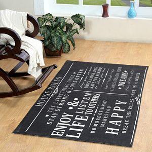 Chesapeake Paris ''House Rules'' Printed Typography Rug