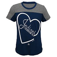 Girls 7-16 Majestic Cleveland Indians Out of the Park Tee