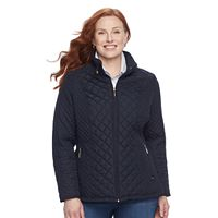 Plus Size Weathercast Quilted Midweight Moto Jacket