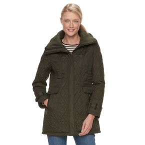 Women's Weathercast Hooded Quilted Walker Jacket