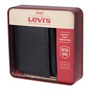 Men's Levi's RFID-Blocking Trifold Wallet with Zipper Closure