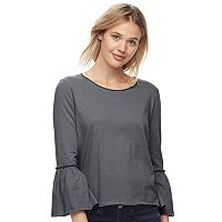 Juniors' SO® Bell Sleeve Top