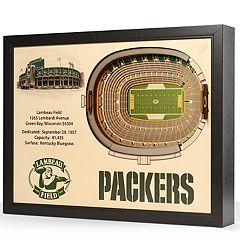 Green Bay Packers Lambeau Field Stadium 3D Wall Art