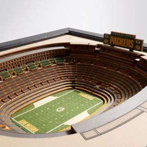 Green Bay Packers Lambeau Field Stadium 3D Wall Art
