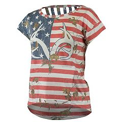 Women's Realtree Independence Print Cap Sleeve Tee