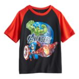 Boys 4-7 Marvel Avengers Iron Man, Captain America & The Hulk Graphic Tee