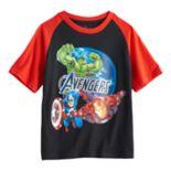 Boys 4-7 Marvel Avengers Iron Man, Captain America & The Hulk Graphic Tee