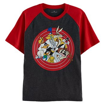 Boys 4-7 Looney Tunes Bugs Bunny & Daffy Duck Character Raglan Graphic Tee