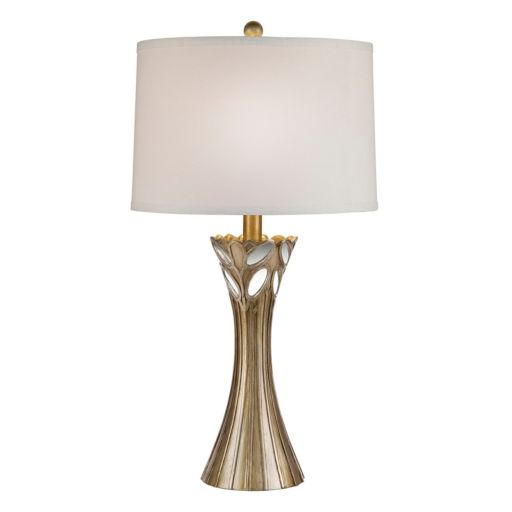 Catalina Lighting Mirrored Gold Finish Table Lamp