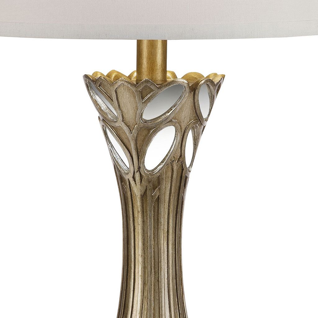 Catalina Lighting Mirrored Gold Finish Table Lamp