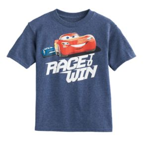 "Disney / Pixar Cars 3 Boys 4-7 Lightning McQueen ""Race To Win"" Tee"