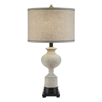 Catalina Lighting Washed White Trophy Table Lamp