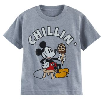 """Disney's Mickey Mouse Boys 4-7 """"Chillin"""" Graphic Tee"""