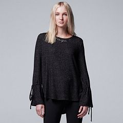 Women's Simply Vera Vera Wang Embellished Tie Accent Top
